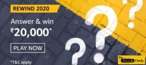 Amazon Rewind 2020 Quiz