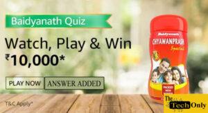 Amazon Baidyanath Quiz