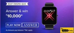 Amazon Boat Enigma Quiz Answers