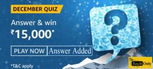 Amazon December Quiz Answers