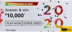 Amazon Looking Back at 2020 Quiz