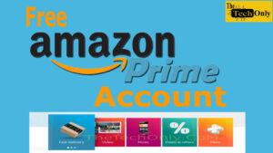 Free Amazon Prime Account