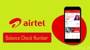 Airtel Balance Check number