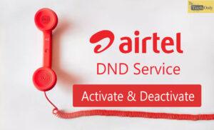 Airtel DND Service
