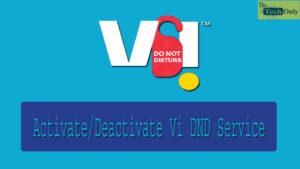 Vi DND Service