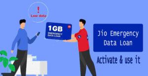 Jio Emergency Data Loan