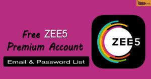 Free ZEE5 Premium Account